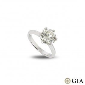 Round Brilliant Cut Diamond Ring 2.71ct N/VS1